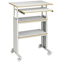 Safco 1929GR Muv Gray 29 inch x 22 inch Adjustable Height Stand-Up Workstation