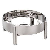 Bon Chef 22004ST Magnifico Round Stainless Steel Soup Chafer Stand with Fuel Holder