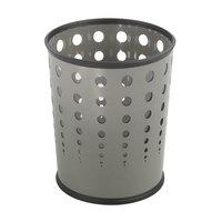 Safco 9740GR 6 Gallon Gray Steel Bubble Wastebasket