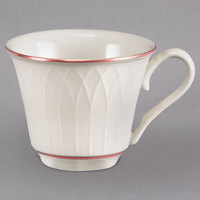 Homer Laughlin 1492-0327 Gothic Maroon Jade 3.25 oz. Off White China Cup - 36/Case