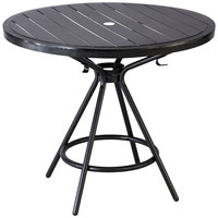 Safco 4362BL CoGo Series Black 36 inch Round Steel Table