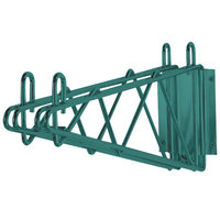 Advance Tabco GDB-14 14 inch Deep Double Wall Mounting Bracket for Adjoining Green Epoxy Coated Wire Shelves
