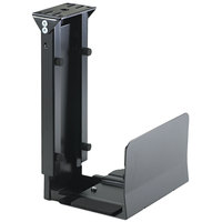 Safco 2176 Ergo-Comfort 7 inch x 9 1/2 inch x 14 inch Black Under CPU Fixed-Mount Stand