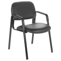 Safco 7046BV Cava Collection Black Vinyl Guest Chair