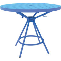 Safco 4362BU CoGo Series Blue 36 inch Round Steel Table