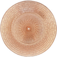 Bon Chef 200003RG Tavola 13 inch Rose Gold Sparkle Glass Charger Plate