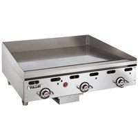 Vulcan MSA36-30 36 inch Countertop Natural Gas Deep Griddle with Snap-Action Thermostatic Controls - 81,000 BTU