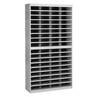 Safco 9241GRR E-Z Stor 37 1/2 inch x 12 3/4 inch x 71 inch Gray 72-Section Steel / Fiberboard File Organizer