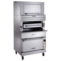 Vulcan VIR1F Liquid Propane Upright Infrared Broiler with Refrigerated Base and Finishing Oven - 100,000 BTU