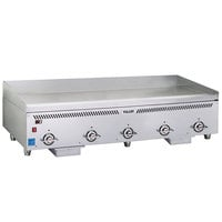 Vulcan VCCG60-IC Natural Gas 60 inch Griddle with Infrared Burners and Rapid Recovery Plate - 120,000 BTU