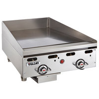 Vulcan MSA24-30 24 inch Countertop Natural Gas Deep Griddle with Snap-Action Thermostatic Controls - 54,000 BTU