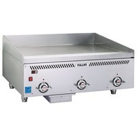 Vulcan VCCG36-IS Natural Gas 36 inch Griddle with Infrared Burner and Steel Plate - 72,000 BTU