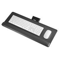 Safco 2133BL 25 inch x 9 1/2 inch x 1 1/2 inch Black Knob-Adjust Keyboard Platform