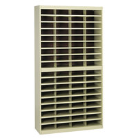 Safco 9241TSR E-Z Stor 37 1/2 inch x 12 3/4 inch x 71 inch Tropic Sand 72-Section Steel / Fiberboard File Organizer