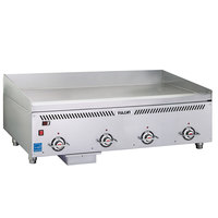 Vulcan VCCG48-IC Liquid Propane 48 inch Griddle with Infrared Burners and a Rapid Recovery Plate - 96,000 BTU