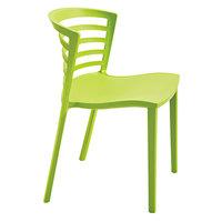 Safco 4359GS Entourage Grass Plastic Stackable Guest Chair - 4/Case