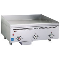 Vulcan VCCG36-IS Liquid Propane 36 inch Griddle with Infrared Burner and Steel Plate - 72,000 BTU