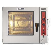 Vulcan ABC7G-NATP Natural Gas Half Size Gas Combi Oven with Probe - 80,000 BTU