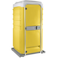 PolyJohn Fleet SC1-1009 Yellow City Mains Portable Restroom and Sink