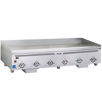Vulcan VCCG72-IR Natural Gas 72 inch Griddle with Infrared Burners and Chrome Plate - 144,000 BTU