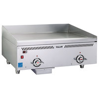 Vulcan VCCG24-IC Liquid Propane 24 inch Griddle with Infrared Burners and a Rapid Recovery Plate - 48,000 BTU