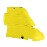 PolyJohn RB1-1004Y Yellow Male Rhino Barrier End Segment