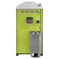 PolyJohn PJG3-1004 GAP Compliant Light Green Portable Restroom with Sink, Soap, and Towel Dispenser
