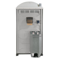 PolyJohn PJG3-1007 GAP Compliant Light Gray Portable Restroom with Sink, Soap, and Towel Dispenser