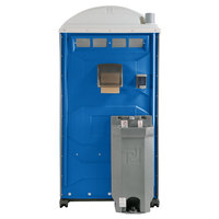 PolyJohn PJG3-1001 GAP Compliant Blue Portable Restroom with Sink, Soap, and Towel Dispenser