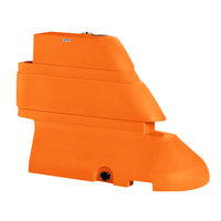 PolyJohn RB1-1004O Orange Male Rhino Barrier End Segment