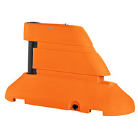 PolyJohn RB1-1003O Orange Female Rhino Barrier End Segment