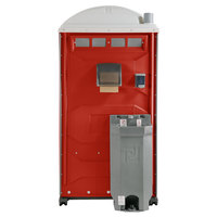 PolyJohn PJG3-1013 GAP Compliant Red Portable Restroom with Sink, Soap, and Towel Dispenser