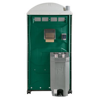 PolyJohn PJG3-1003 GAP Compliant Evergreen Portable Restroom with Sink, Soap, and Towel Dispenser