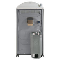PolyJohn PJG3-1005 GAP Compliant Pewter Portable Restroom with Sink, Soap, and Towel Dispenser