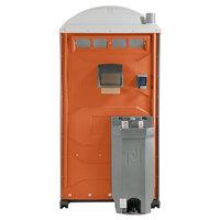 PolyJohn PJG3-1011 GAP Compliant Orange Portable Restroom with Sink, Soap, and Towel Dispenser