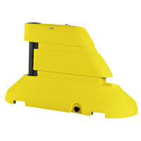 PolyJohn RB1-1003Y Yellow Female Rhino Barrier End Segment