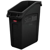 Rubbermaid 2026696 52 Qt. / 13 Gallon Slim Jim Under-Counter Black Trash Can