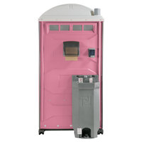 PolyJohn PJG3-1012 GAP Compliant Pink Portable Restroom with Sink, Soap, and Towel Dispenser