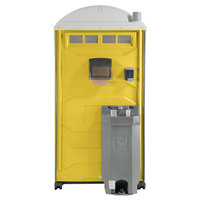 PolyJohn PJG3-1009 GAP Compliant Yellow Portable Restroom with Sink, Soap, and Towel Dispenser