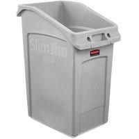 Rubbermaid 2026721 23 Gallon Slim Jim Under-Counter Gray Trash Can
