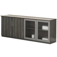 Mayline MVLCDLGS Medina 72 inch x 20 inch x 29 1/2 inch Gray Steel Low Wall Cabinet Door Box 2 - 4/Box