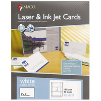 MACO ML8576 Laser / Inkjet 3 inch x 5 inch White Unruled Micro-Perforated Index Cards - 150/Box