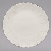 10 Strawberry Street VTNA-0004 Valentina 8 inch White New Bone China Plate - 24/Case