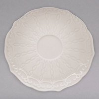 10 Strawberry Street EVER-0009S Ever 5 1/2 inch White New Bone China Saucer - 12/Case