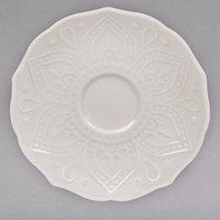 10 Strawberry Street DHLA-0009S Dahlia 5 1/2 inch White New Bone China Saucer - 36/Case