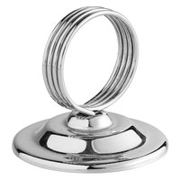 "Choice 2 1/2"" Chrome Menu / Card Holder with Weighted Base"