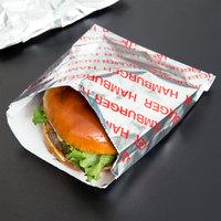 Carnival King 6 inch x 1 inch x 6 1/2 inch Large Hamburger Bag - 1000/Case