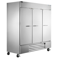 Beverage-Air HBR72-1-S Horizon Series 75 inch Bottom Mounted Solid Door Reach-In Refrigerator with LED Lighting