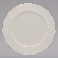 10 Strawberry Street EVER-0001 Ever 10 1/2 inch White New Bone China Plate - 12/Case