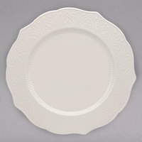 10 Strawberry Street DHLA-0001 Dahlia 10 1/2 inch White New Bone China Dinner Plate - 12/Case